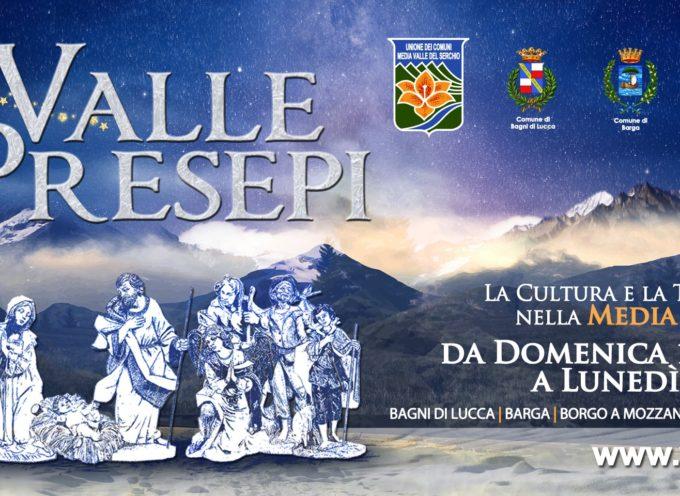"""si inaugfura  la  IV° edizione della manifestazione """"La Valle dei Presepi"""" a Coreglia"""