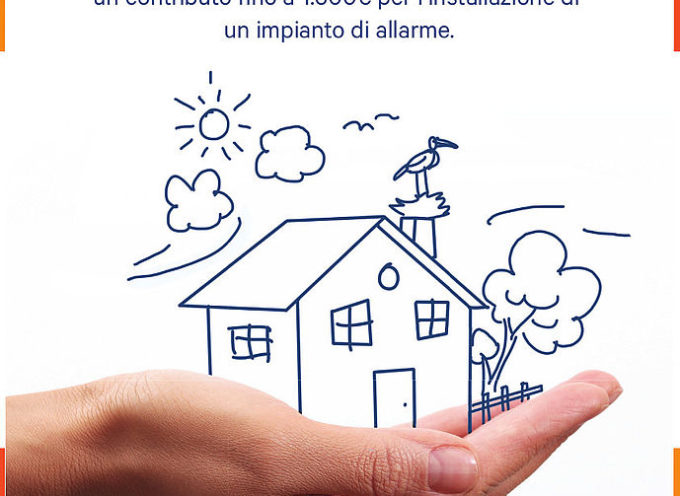 'Casa al sicuro': da lunedì 2 dicembre è possibile fare domanda di contributo per l'installazione di un allarme domestico
