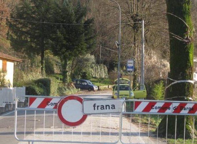 Chiusa al traffico la strada comunale Mologno – Barga a causa di una frana