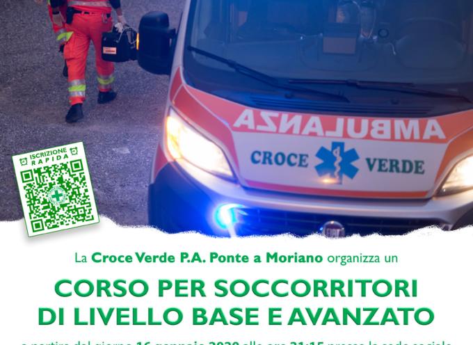 Presso la Croce Verde di Ponte a Moriano sono aperte le iscrizioni per il nuovo Corso Soccorritori di livello base ed avanzato
