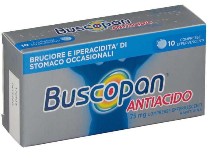 Ranitidina, ritiro specialità medicinale BUSCOPAN ANTIACIDO. Il BUSCOPAN (privo di ranitidina) è, invece, regolarmente disponibile in farmacia.