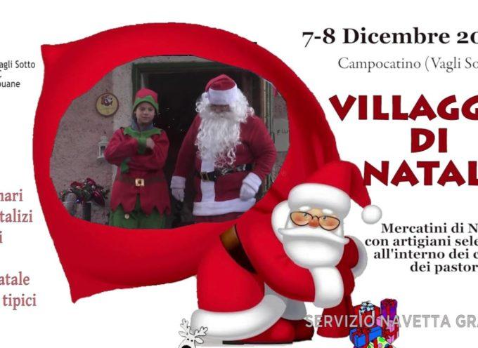 7 – 8 DICEMBRE 2019 A CAMPOCATINO – IL VILLAGGIO DI NATALE