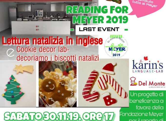 """Reading for Meyer"" – iniziativa tutta in inglese a favore del Meyer"