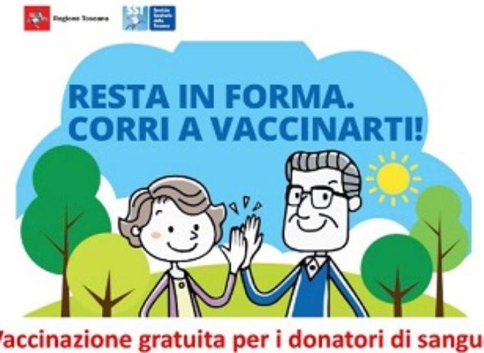 CAMPAGNA ANTI-INFLUENZALE 2019/2020: VACCINI GRATIS PER I DONATORI DI SANGUE.