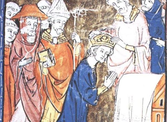 Nel corso della messa di Natale del 25 dicembre 800, nella basilica di San Pietro, papa Leone III incorona Carlo Magno imperatore