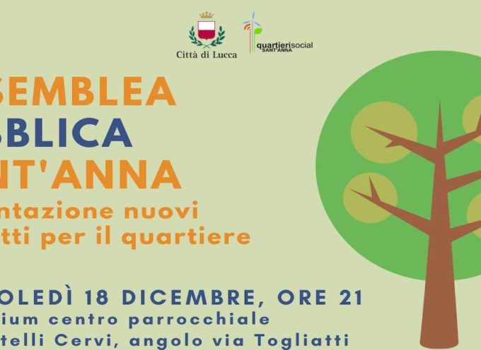 Assemblea pubblica Sant'Anna | Presentazione dei nuovi progetti