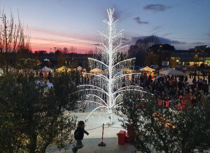 CAPANNORI – Ieri l'amministrazione comunale ha acceso l'albero di Natale in piazza Aldo Moro