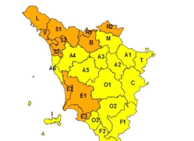 VIAREGGIO –  EMESSO ALLERTA METEO ARANCIO E GIALLO