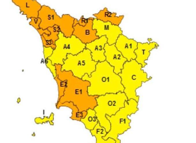 ALLERTA METEO ARANCIONE E GIALLA IN VALLE DEL SERCHIO