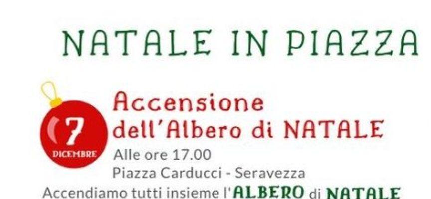 Pro Loco Seravezza – Piazza Carducci alle ore 17.00: accensione albero e slitta di Babbo Natale con gli Elfi