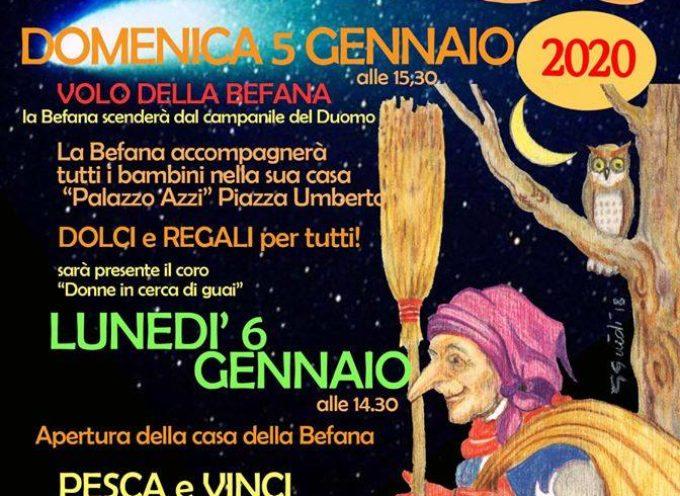 a Castelnuovo arriverà la Befana e lo farà nel modo più tradizionale ; volando !!