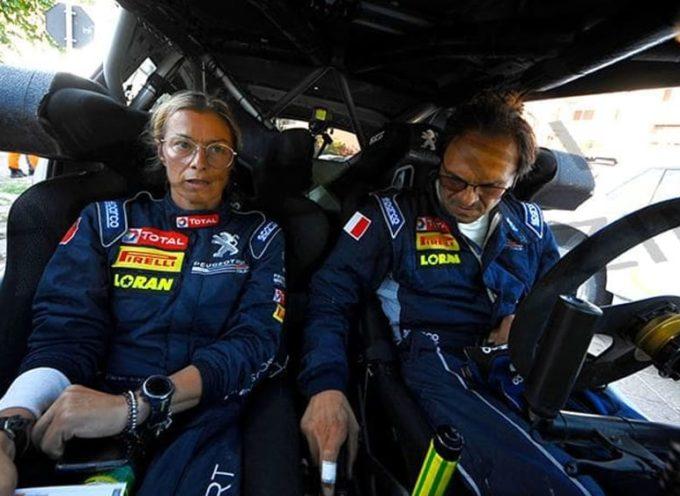 Paolo Andreucci e Anna Andreussi al via del 28° rally del Ciocchetto