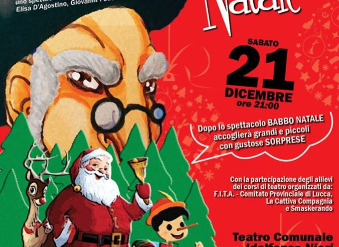 Teatro sabato 21 dicembre spettacolo per le famiglie e i bambini a Ponte a Moriano