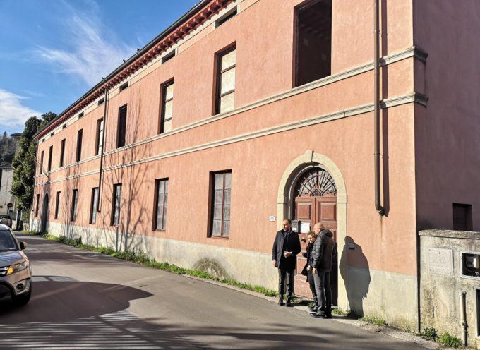 Sopralluogo alla ex Circoscrizione di Ponte a Moriano degli assessori Bove e Giglioli: