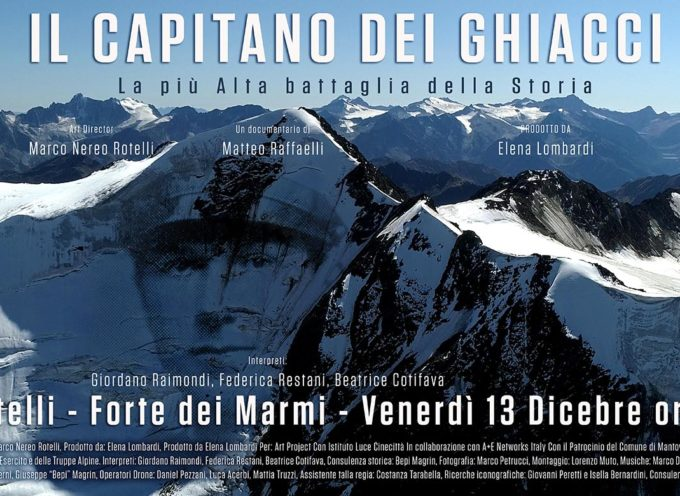 """""""Il Capitano dei Ghiacci"""" Il documentario di Matteo Raffaelli di scena a Villa Bertelli"""