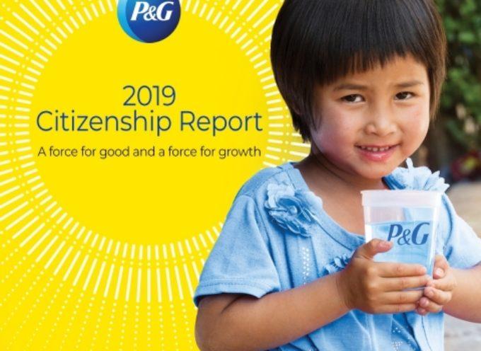 Citizenship Report 2019 di P&G evidenzia l'impegno nell'impatto sulla comunità, nella parità di genere, nella diversità e inclusione e nella sostenibilità