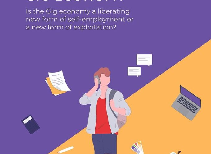 ad Artè un punto informativo sul progetto 'Entering the Gig Economy'