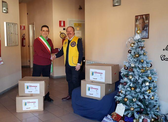 I Lions Club donano al territorio numerosi pacchi natalizi
