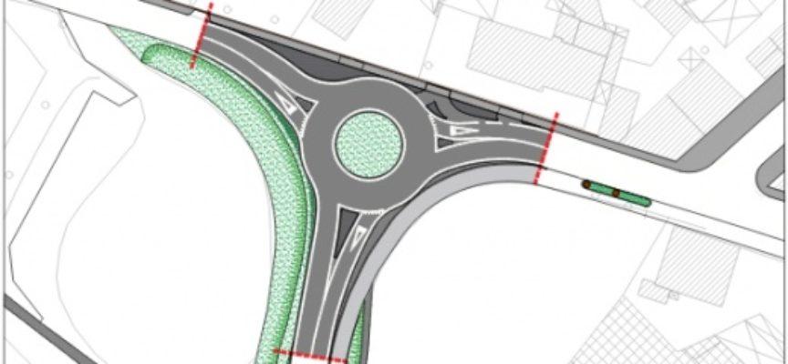 Viabilità: rotatoria compatta tra via Marconi-sottopasso Avis, cantiere aperto dopo festeggiamenti San Biagio