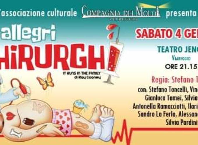 """Lo strampalato Studio de """"Gli Allegri Chirurghi"""" riapre domani, sabato 4 gennaio 2020, alle ore 21, al Teatro Jenco di Viareggio!"""