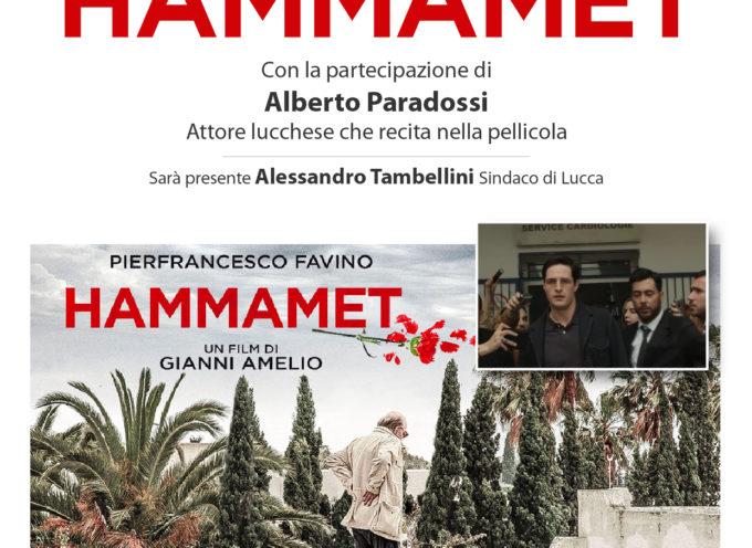 """Martedì presentazione alla Città del film """"Hammamet"""" alla presenza dell'attore lucchese Alberto Paradossi e del sindaco Tambellini"""