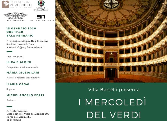 VILLA BERTELLI – Il Don Giovanni di W.A. Mozart al quarto appuntamento con I mercoledì del Verdi