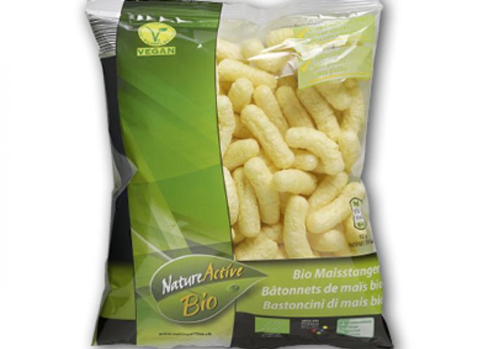 """Attenzione allo snack """"Bastoncini di mais bio"""" di Aldi, questo prodotto di mais non è adatto ai celiaci."""