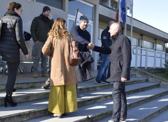 """Il sindaco di Massarosa sul set del film """"Security"""""""