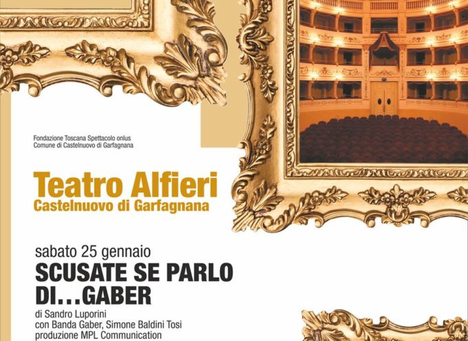 Spettacolo Teatrale – Chiedo scusa se parlo di…Gaber, al teatro Alfieri