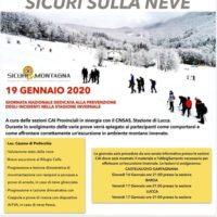 Sicuri sulla neve – RIMANDATO A DATA DA DESTINARSI
