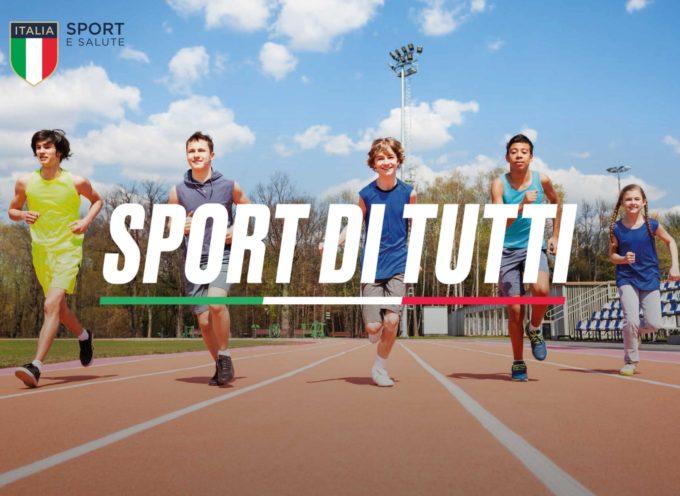 """Ultimi giorni per aderire al progetto """"Sport di Tutti"""""""
