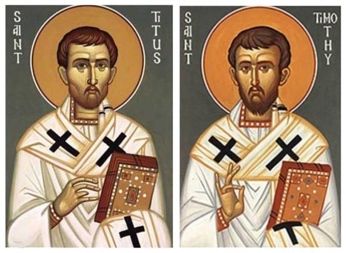Il Santo del giorno, 26 Gennaio: Santi Timoteo e Tito, i due più stretti collaboratori di S. Paolo