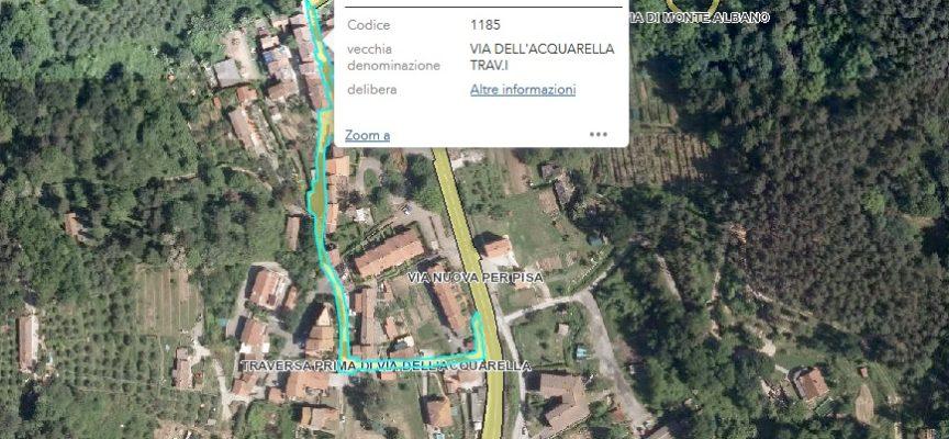 la traversa prima di via dell'Acquarella a Santa Maria del Giudice dichiarata di uso pubblico