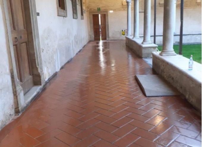 Chiostro S. Agostino, nuove reti anti-piccione e nuovo impianto termico per cuore culturale città