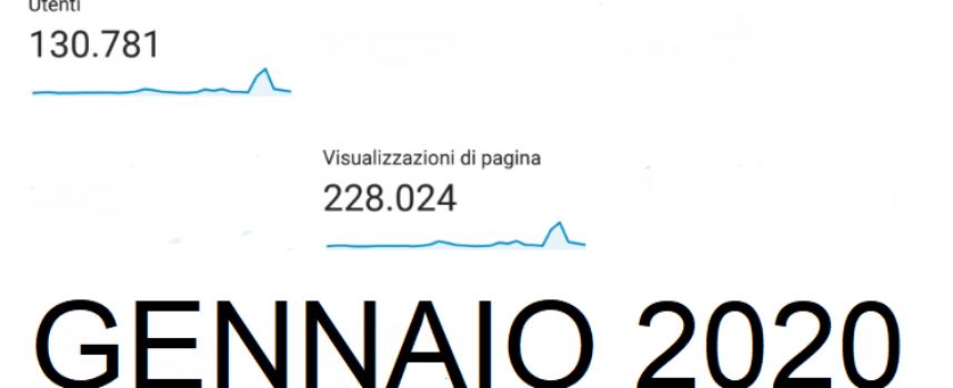130000 Utenti Unici a Gennaio per Verdeazzurronotizie.it