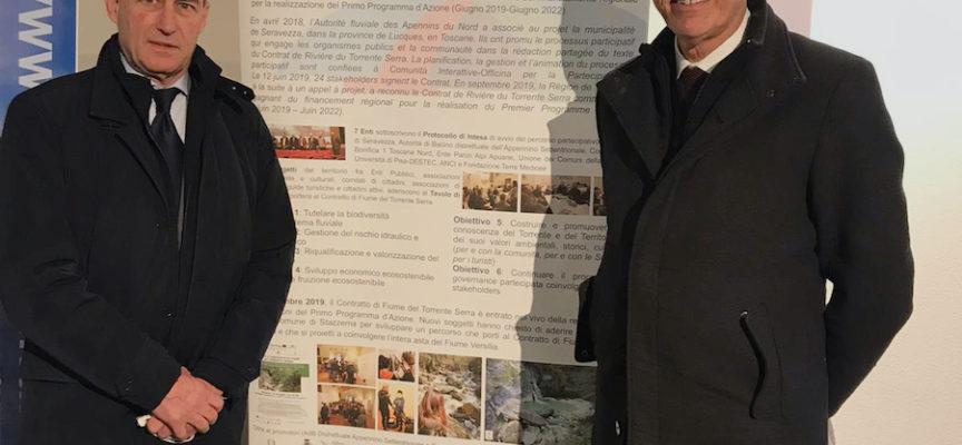 il Comune di Seravezza premiato con il suo Contratto di Fiume del Torrente Serra ieri al Palazzo Ducale a Genova