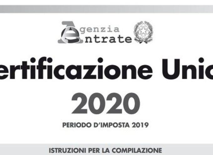 Certificazione unica 2020 anche per minimi e forfettari