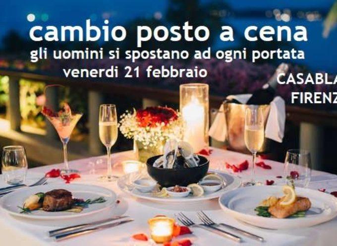 "Serata ""Cambio Posto a Cena"" aperta a single"