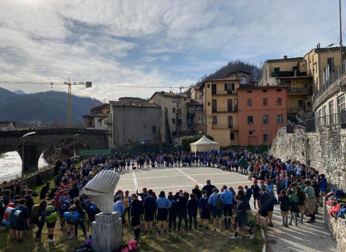 Castelnuovo di Garfagnana-  l'incontro tra i gruppi scout AGESCI e CNGEI della provincia di Lucca