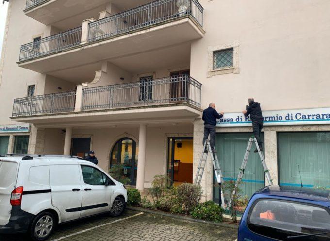 E' esploso nella notte intorno alle 3.30 il bancomat della Cassa di Risparmio di Carrara sulla via Aurelia a Querceta