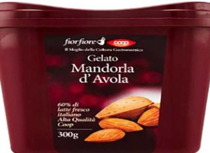 La Coop ritira Gelato alla mandorla fior fiore Coop vaschetta 300g: gravi rischi per allergici e intolleranti