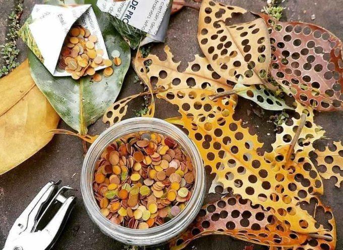 Dalle foglie alla carta riciclata, come creare coriandoli fai-da-te a costo zero