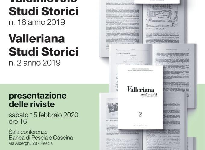 la Presentazione Riviste Valdinievole Studi Storici e Valleriana Studi Storici