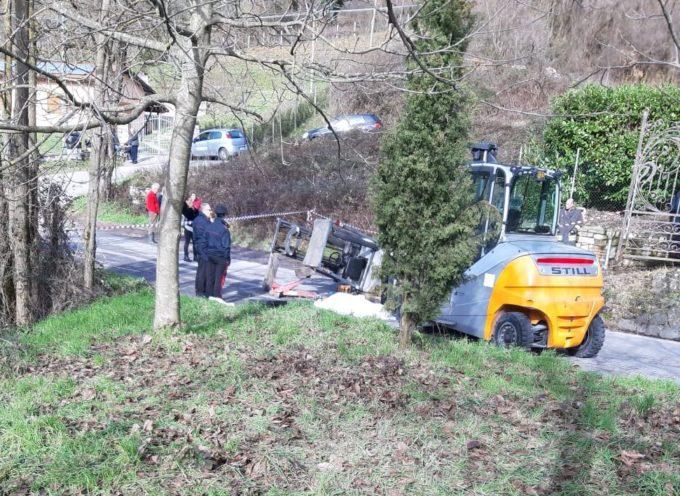 MINUCCIANO – L'imprenditore agricolo LORIANO MARTINI DI 68 ANNI, è rimasto schiacciato sotto al muletto