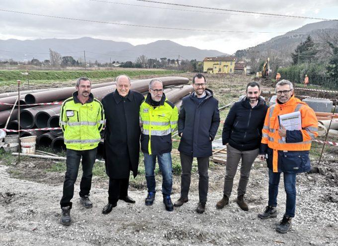 Proseguono a pieno ritmo i lavori per il collegamento fognario Nozzano – Pontetetto