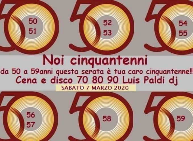 Lucca la festa Dei 50enni una serata tutta per noi cena e musica
