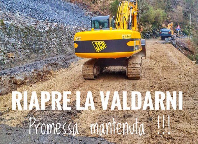 Domani sabato 7 marzo alle ore 11 riapre la strada Valdarni.