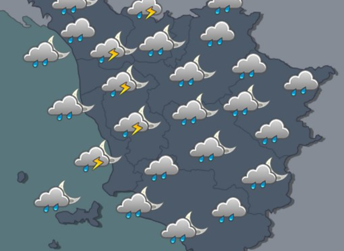 maltempo diffuso su tutta la regione dal pomeriggio, non esclusi temporali in serata
