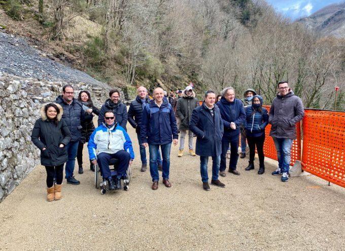 riaperta oggi la sp 13 di Valdarni chiusa dallo scorso 1° febbraio per frana. Versilia e Garfagnana di nuovo unite dopo i lavori