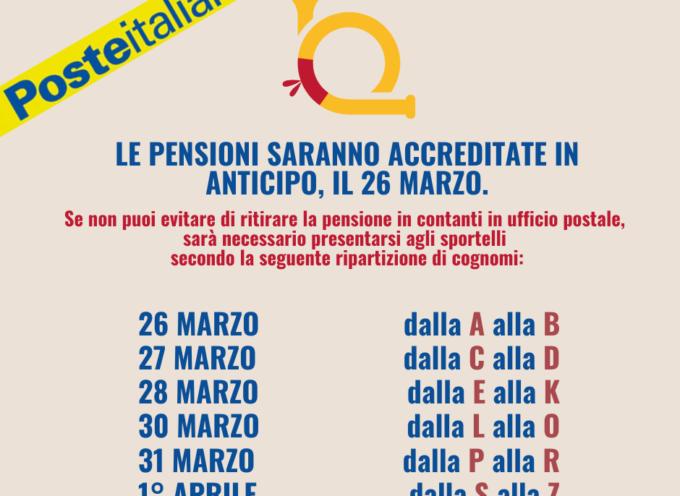 ALTOPASCIO comunicazione importante da parte di Poste Italiane. Ritiro pensioni aprile 2020 a partire dal 26 marzo.